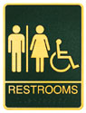 Picture of Brass ADA Plaque - Men and Womens Wheelchair Accessible Restroom