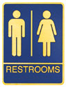 Picture of Brass ADA Plaque - Men and Womens Restroom