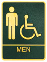 Picture of Brass ADA Plaque - Mens Wheelchair Accessible Restroom