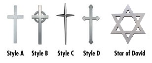 Picture of Cast Metal Symbols - Crosses